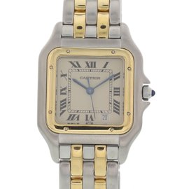 Cartier Panthere 187949 18K Yellow Gold & Stainless Steel Quartz 27mm Unisex Watch