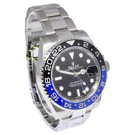 Rolex GMT-Master II 116710 Stainless Steel Black/Blue Ceramic Bezel Black Dial Automatic 40mm Mens Watch 2017