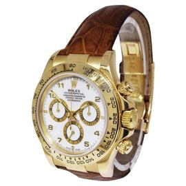 Rolex Daytona 116518 18K Yellow Gold & Leather Automatic 40mm Mens Watch