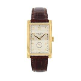 Patek Philippe Gondolo 5009 J 18K Yellow Gold & Leather 25.5mm Mens Watch