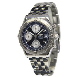 Breitling Chronomat A13352 Stainless Steel with Black Dial Automatic 39mm Mens Watch