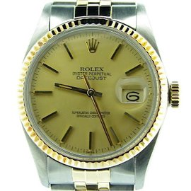 Rolex Datejust 16013 14K Yellow Gold / Stainless Steel Automatic 36mm Mens Watch