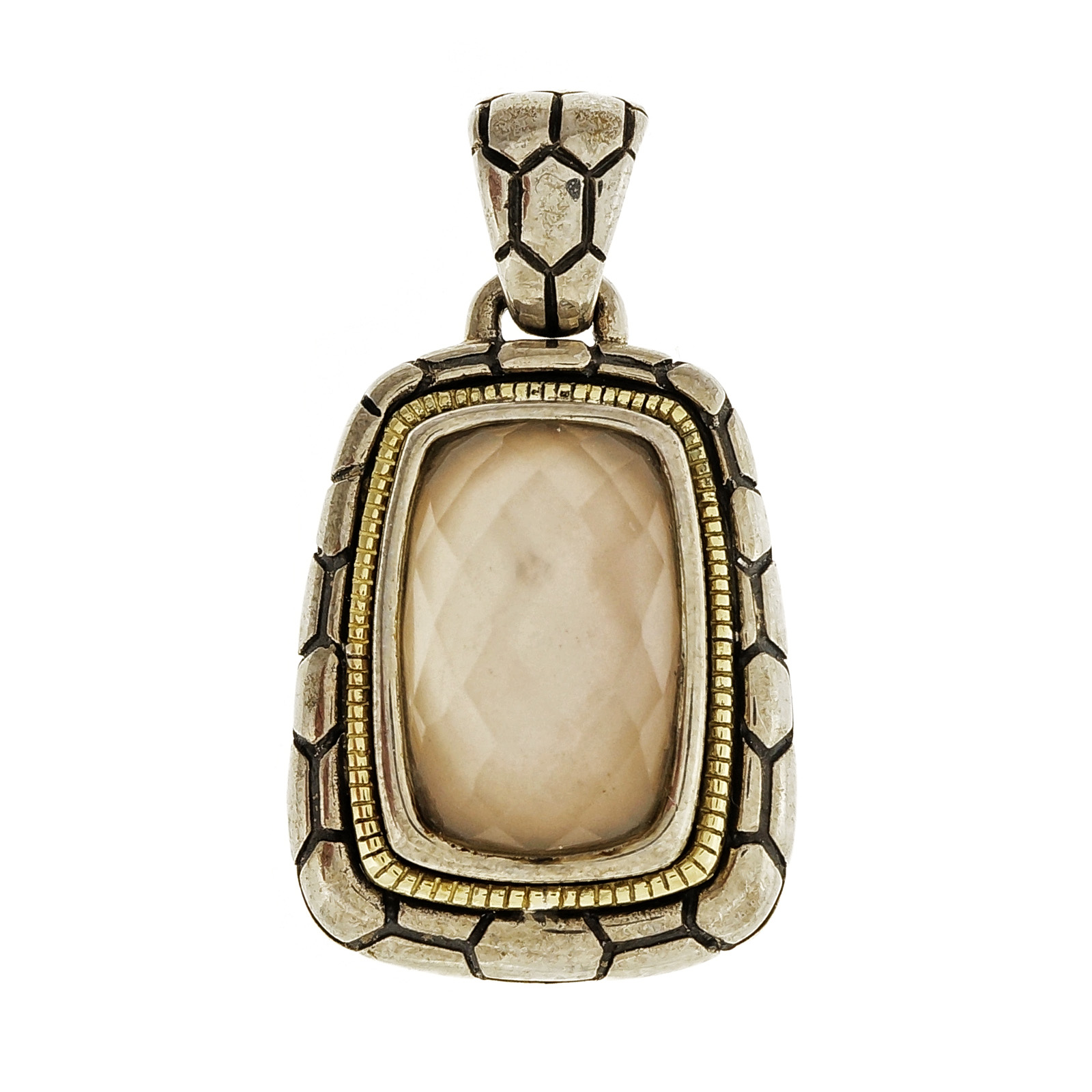 "Image of ""Asch Grossbardt 18K Yellow Gold 925 Sterling Silver Mother Of Pearl"""