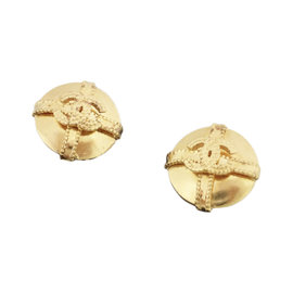 Chanel Gold Tone Hardware CC Mark Clip On Earrings