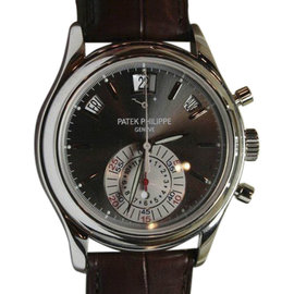 Patek Philippe 5960P Chronograph Annual Calendar Platinum Mens Watch