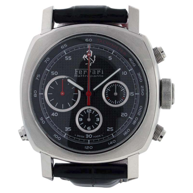 "Image of ""Panerai Ferrari Fer00005 Stainless Steel & Leather 45mm Watch"""