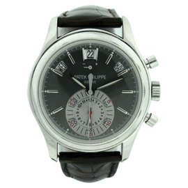 Patek Philippe Complications 5960P Platinum & Leather 41mm Watch