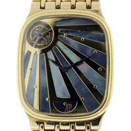 Audemars Piguet World's First 18K Yellow Gold Automatic Tourbillon Mens Watch