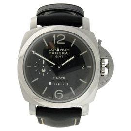 Panerai Luminor GMT PAM0233 Stainless Steel & Leather 44mm Watch