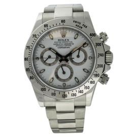 Rolex Daytona 116520 White Dial Mixed Serial Stainless Steel Chronograph Mens Watch 40mm
