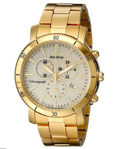 """Image of """"Citizen Eco-Drive Fb1342-56P Gold-Tone Stainless Steel Chronograph"""""""