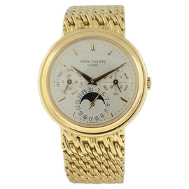 Patek Philippe Perpetual Calendar Moonphase 18K Yellow Gold Mens Watch