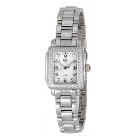 Michele Deco Mini MWW06D000049 Diamond Stainless Steel Watch