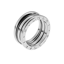 Bulgari B-Zero1 3 Band 18K White Gold Ring Size Medium