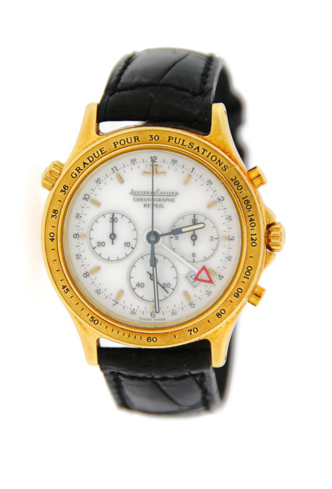 "Image of ""Jaeger Lecoultre 116.1.33 Reveil Heraion Chronograph 18K Yellow Gold"""