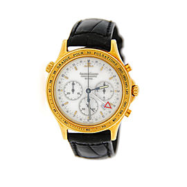 Jaeger Lecoultre 116.1.33 Reveil Heraion Chronograph 18K Yellow Gold Mens Watch