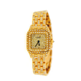 Cartier Panthere WF3072B9PVE Factory Diamonds 18K Yellow Gold Watch
