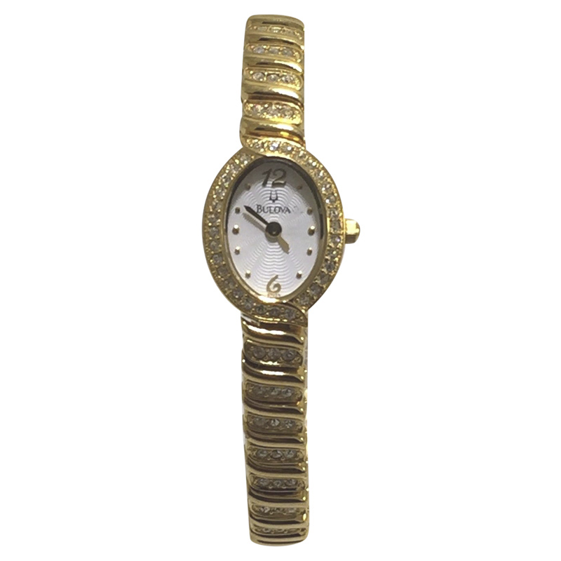 """""""""""Bulova 97V23 Gold Tone Stainless Steel And Crystal Mother of Pearl"""""""""""" 2113807"""