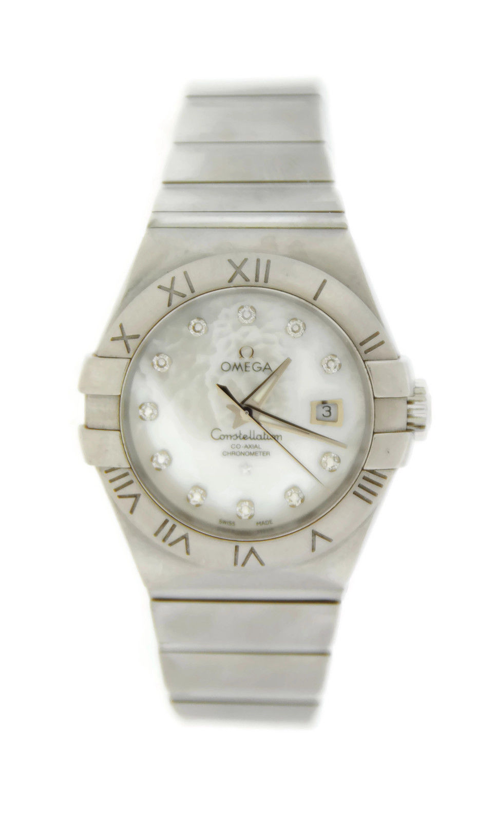 "Image of ""Omega 123.10.31.20.55.001 Constellation MOP Diamond Automatic Steel"""