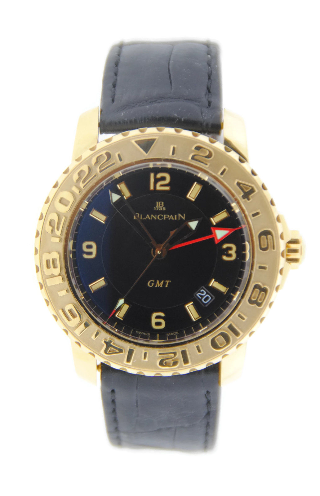 "Image of ""Blancpain Fifty Fathoms GMT Automatic 18K Yellow Gold Watch"""