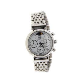 IWC Da Vinci 3736 Chronograph Moonpahse Stainless Steel Watch