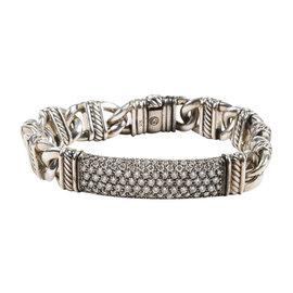 David Yurman 925 Sterling Silver & Pave Diamond