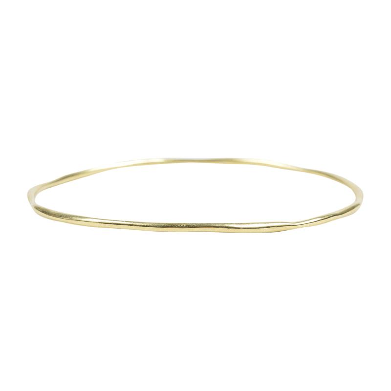 """Image of """"Ippolita 18K Yellow Gold Glamazon Squiggle Skinny Bangle Bracelet"""""""