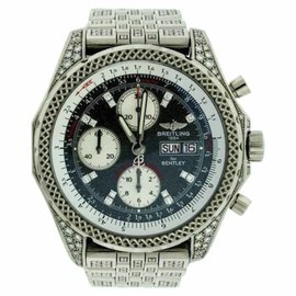 Breitling Bentley 18K White Gold & Diamond 45mm Mens Watch