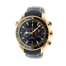 Omega Seamaster Planet Ocean 232.63.46.51.01.001 Chronograph 18K Rose Gold Mens Watch