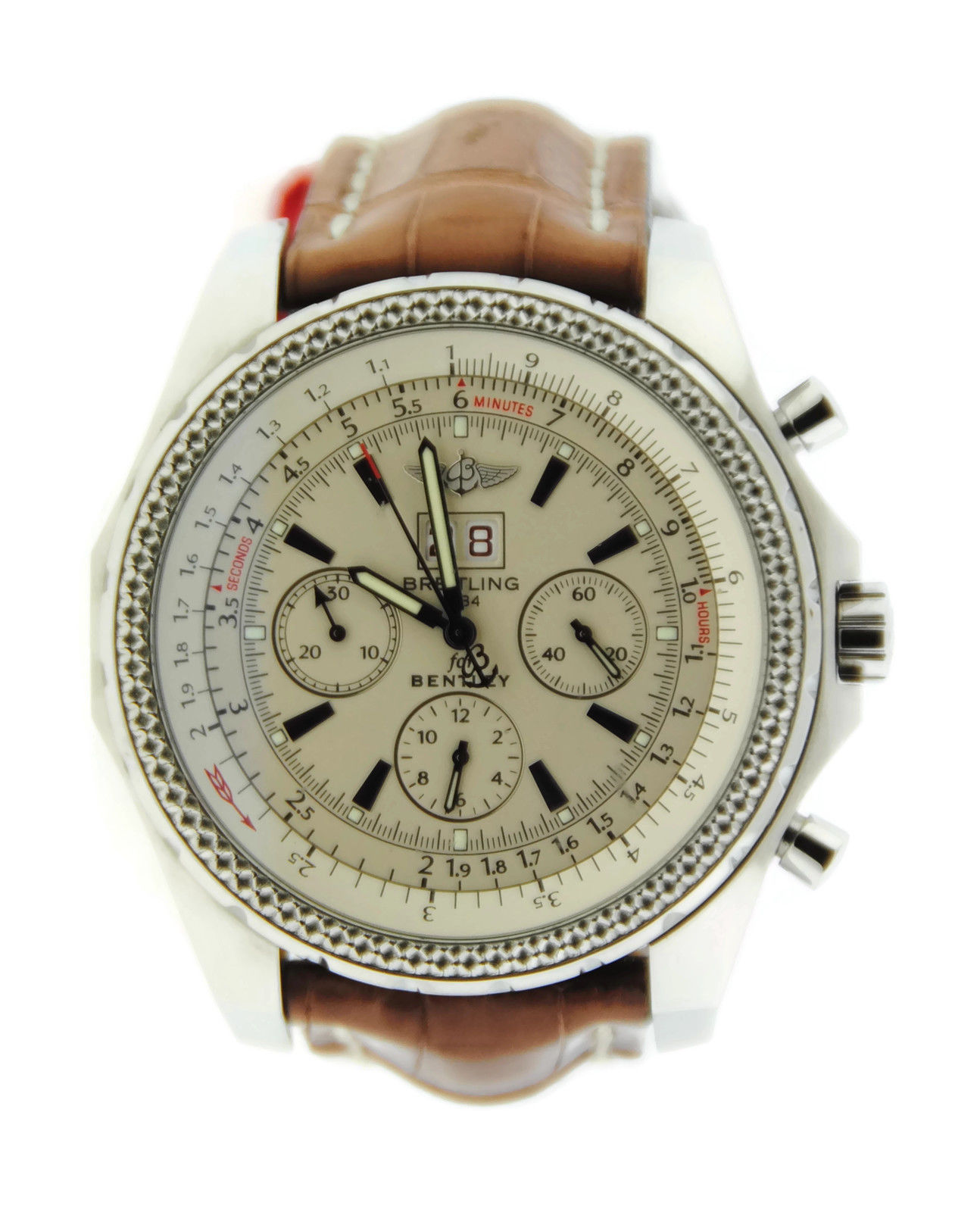 """Image of """"Breitling Bentley A2436212 Stainless Steel & Leather Automatic 48mm"""""""