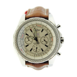 Breitling Bentley A2436212 Stainless Steel & Leather Automatic 48mm Mens Watch