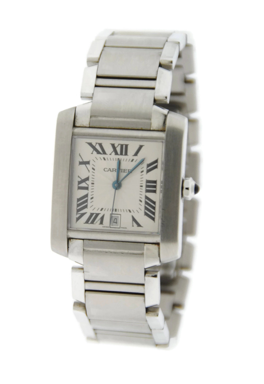 "Image of ""Cartier Tank Large Automatic Stainless Steel Mens Watch"""