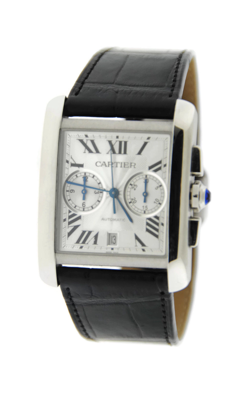 """Image of """"Cartier Tank MC Chronograph W5330007 Automatic Stainless Steel Watch"""""""