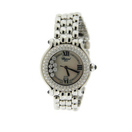 Chopard Happy Sport 27/8236 Diamonds Stainless Steel Womens Watch