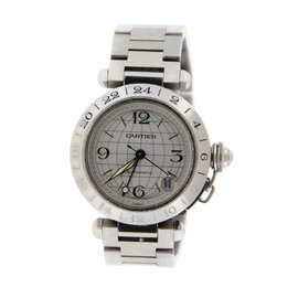 Cartier Pasha GMT 2377 Stainless Steel 35mm Watch