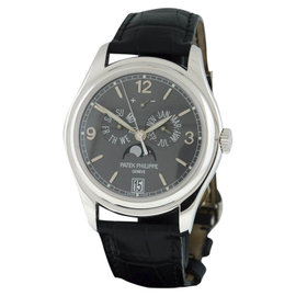 Patek Philippe Complications 5146G 18K White Gold Annual Calendar Moon Phase 39mm Watch