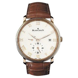 Blancpain Villeret Ultra Slim 18K Rose Gold & Leather Power Reserve 40mm Mens Watch