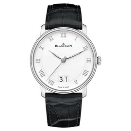 Blancpain Villeret Grande Date 6669-1127-55B Stainless Steel & Leather Automatic 40mm Mens Watch