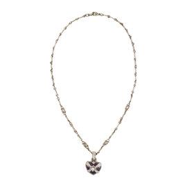 Judith Ripka 18K White Gold with Amethyst & Diamond Heart Pendant Necklace