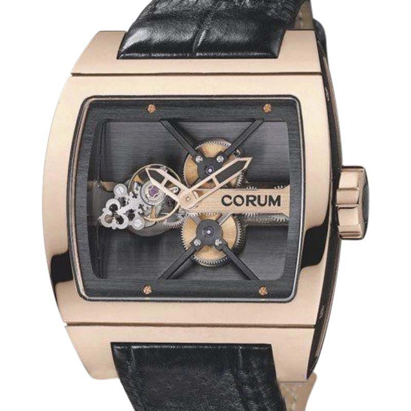 "Image of ""Corum Ti Bridge Tourbillon Limited 18K Rose Gold 42mm x 53mm Watch"""