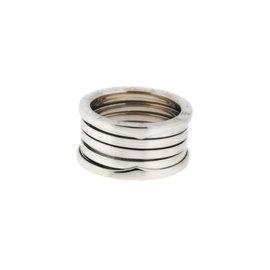 Bulgari B-Zero 18K White Gold Ring Size 9