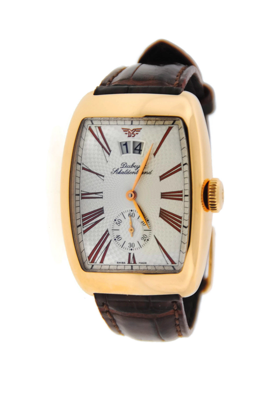 "Image of ""Dubey & Schaldenbrand Aerodyn 18K Rose Gold & Leather Automatic 33mm"""