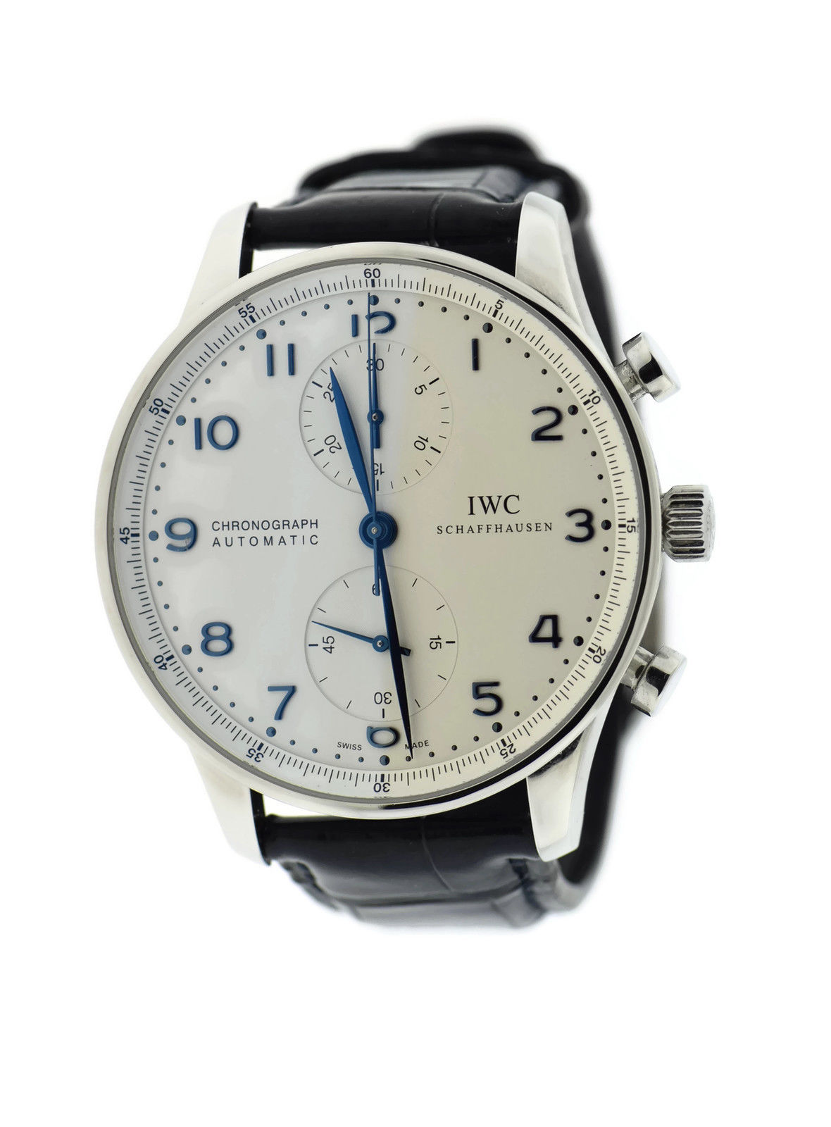 "Image of ""IWC Portuguese 3714 Chronograph Stainless Steel Automatic 41mm Mens"""