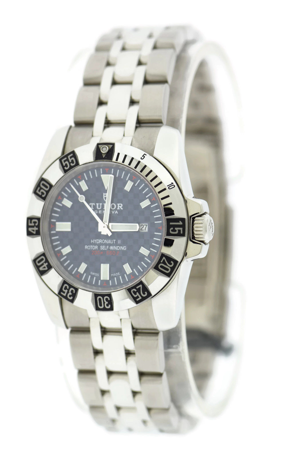 """Image of """"Tudor Hydronaut II 24030 Stainless Steel Blue Carbon Fiber Dial 30mm"""""""