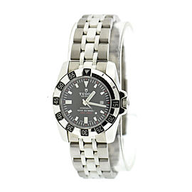 Tudor Hydronaut 24030 Stainless Steel Black Dial 30mm Womens Watch