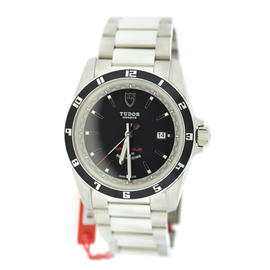 Tudor Grantour 20500N Stainless Steel With Black Dial 42mm Mens Watch