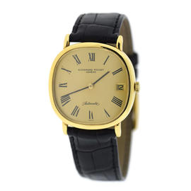 Audemars Piguet 18K Yellow Gold & Leather Automatic Vintage 32.5mm Womens Watch