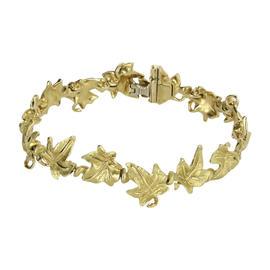 Tiffany & Co. Vintage 18K Yellow Gold Leaf Bracelet