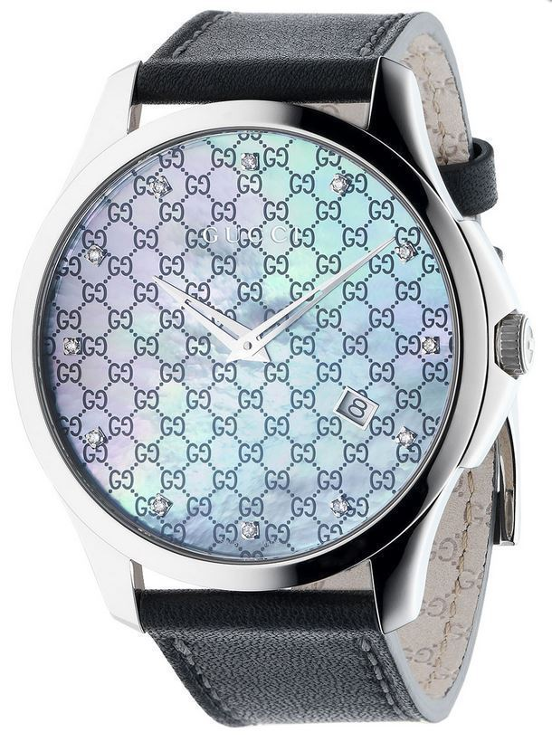 """Image of """"Gucci G-Timeless Ya126307 Stainless Steel & Leather with Diamond"""""""
