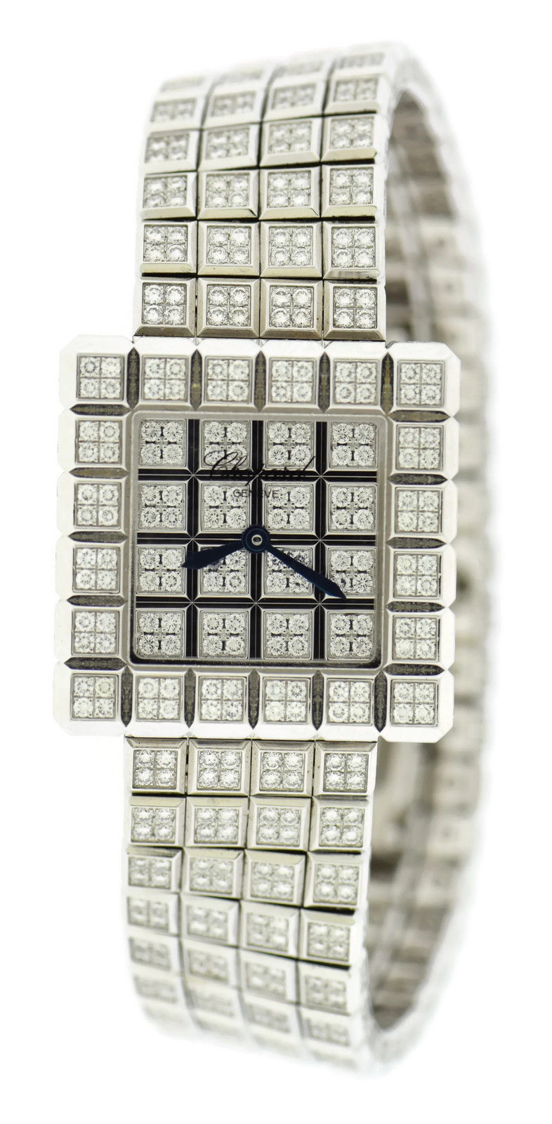 "Image of ""Chopard 10/6815-20 Ice Cube Diamond 18K White Gold 25mm Womens Watch"""